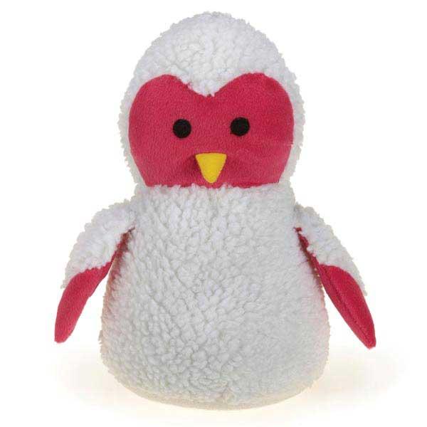 Zanies Snuggly Owlets Dog Toy - Pink