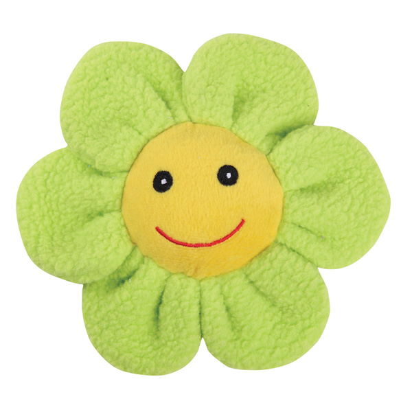 Zanies Spring Garden Berber Flower Doy Toy - Green