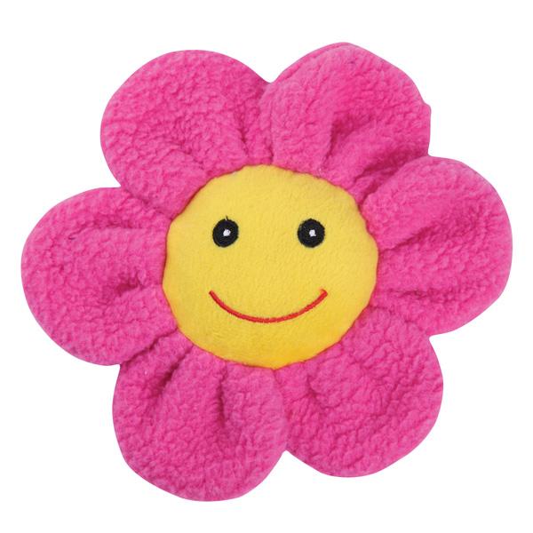 Zanies Spring Garden Berber Flower Doy Toy - Pink
