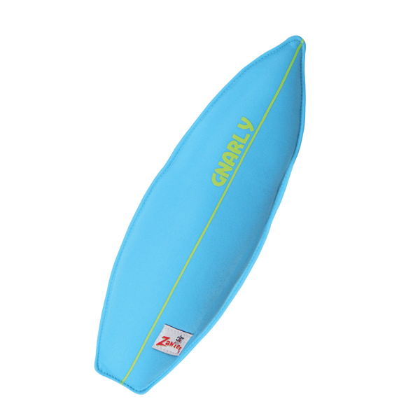 Zanies Surf's Up Surfboard Dog Toy - Bluebird
