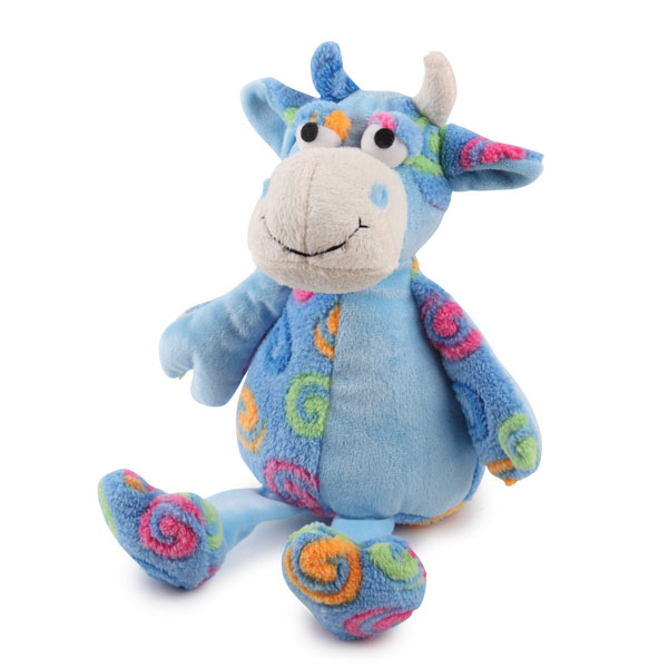 Zanies Swirly Herd Dog Toy - Blue
