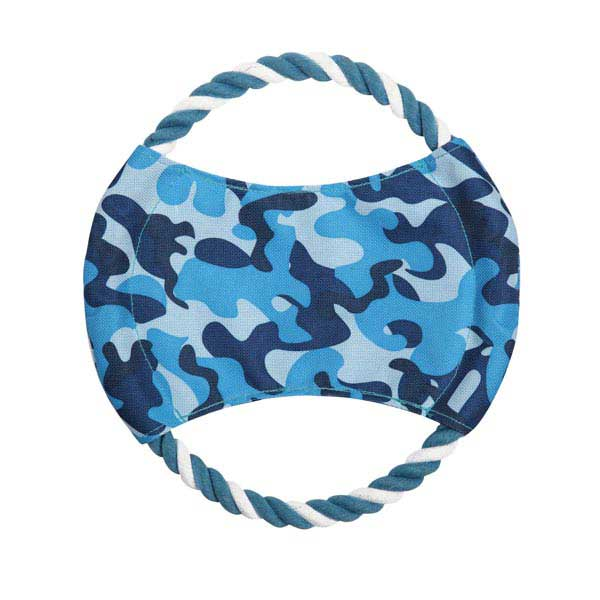 Zanies Toughstructable Flyer Dog Toy - Blue