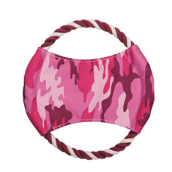 Zanies Toughstructable Flyer Dog Toy - Pink