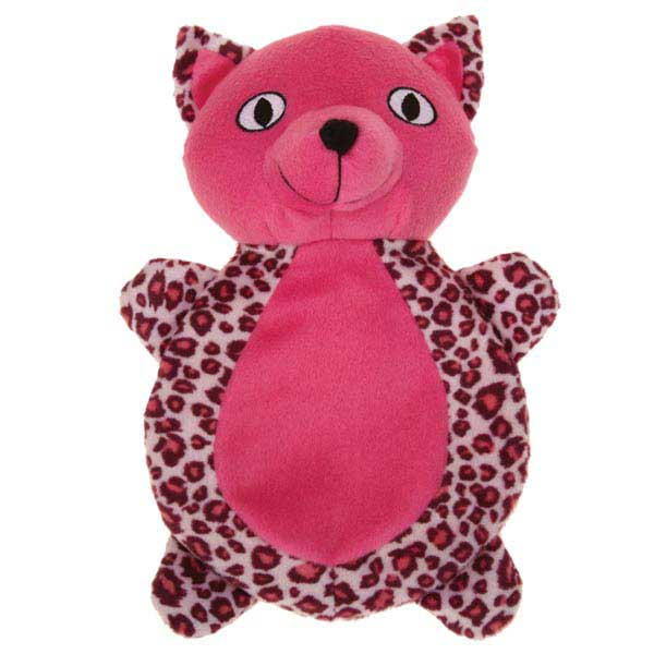 Zanies Vibrant Leopard Cat Dog Toy - Raspberry