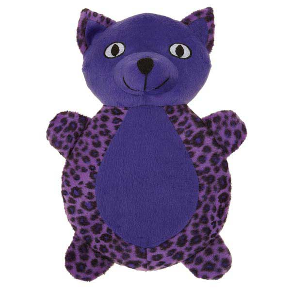 Zanies Vibrant Leopard Cat Dog Toy - Ultra Violet