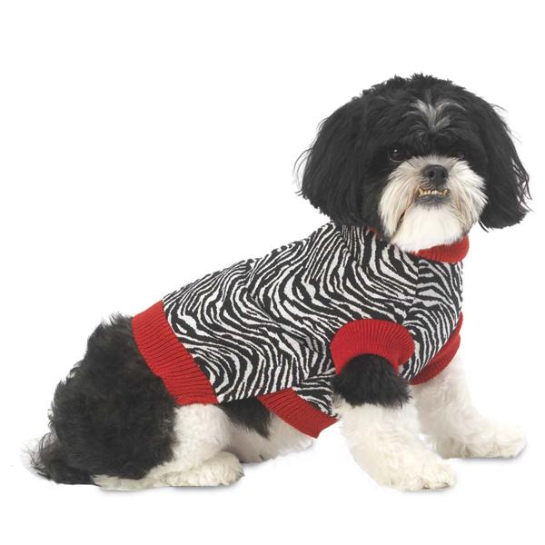 Zoe's Zebra Dog Sweater