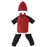 View Image 2 of 2 in 1 Dog Snowsuit - Red