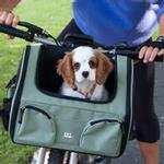 View Image 2 of 3-in-1 Convertible Pet Carrier/Bike Basket/Car Seat - Sage