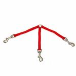 View Image 2 of 3-Way Coupler Leash by Zack & Zoey - Tomato Red
