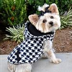 View Image 1 of 4 in 1 Fleece Dog Hoodie and Vest Combination - Houndstooth