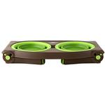 View Image 2 of Adjustable Pet Feeder by Popware - Green