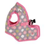 View Image 1 of Affera Pinka Wrap Dog Harness by Pinkaholic - Gray