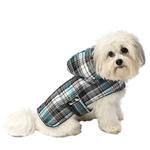 View Image 1 of Alberta Quilted Dog Parka - Blue Plaid