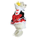View Image 1 of Alice in Wonderland's Queen of Hearts Halloween Dog Costume