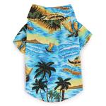 View Image 3 of Aloha Camp Shirt by Casual Canine - Blue