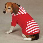 View Image 2 of Americana Pullover Dog Hoodie - Red