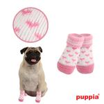 View Image 1 of Angel Heart Dog Socks by Puppia - Pink