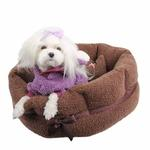 View Image 1 of Angelic Dog Bed by Pinkaholic - Brown