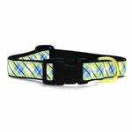 View Image 2 of Argyle Dog Collar by Up Country - Blue & Green