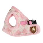 View Image 2 of Argyle Mode Dog Harness Vest by Puppia - Pink