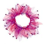 View Image 2 of Aria Blooming Brights Dog Scrunchy - Pink