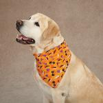 View Image 1 of Aria Spooky Dog Bandana - Orange