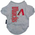 Arizona Diamondbacks Dog T-Shirt - Gray