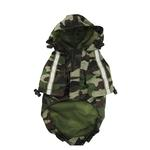 View Image 2 of Army Camo Dog Raincoat by Dogo - Green