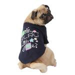 View Image 1 of Asking Dog Shirt by Puppia - Navy Blue