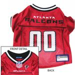 View Image 1 of Atlanta Falcons Officially Licensed Dog Jersey - Red