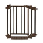 View Image 2 of Auto Deluxe Wood Pet Gate - Coffee Brown
