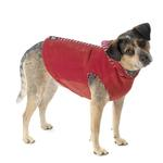 View Image 1 of Bandit's Velour Dog Hoodie - Red