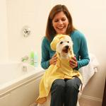 View Image 1 of Barnyard Friends Hooded Dog Towel - Duck