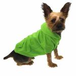 View Image 4 of Basic Dog Hoodie - Parrot Green