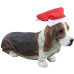 Basset Hound Christmas Ornament - Facing Forward