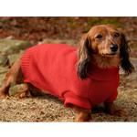 View Image 2 of Baxter's Basic Dog Sweater - Red