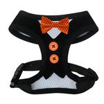 Be Good Polka Dot Bowtie Dog Harness - Orange
