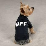 View Image 1 of BFF Best Friends Forever Dog T-Shirt - Black