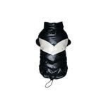 Black Puffy V Dog Coat by Hip Doggie