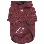 View Image 3 of Blossom Dog Hoodie by Pinkaholic - Brown