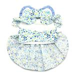 View Image 2 of Blue Belle Floral Dog Dress by Doggie Design
