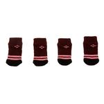 View Image 2 of Bordeaux Argyle Soxy Paws Dog Socks