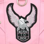 View Image 3 of Born To Ride Motorcycle Harness Jacket - Pink