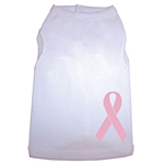Breast Cancer Dog Tank - White
