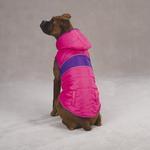 View Image 3 of Brite Stripe Dog Parka - Pink