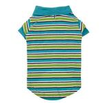 View Image 3 of Brite Stripe Dog Polo - Bluebird