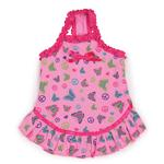 View Image 2 of Butterfly Garden Dog Dress - Pink