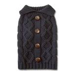 Button Cable Sweater by Dogo - Gray