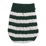 View Image 3 of Cabin Striped Turtleneck Dog Sweater - Green
