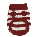 View Image 2 of Cabin Striped Turtleneck Dog Sweater - Red